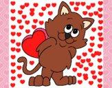 Gatito apaixonado