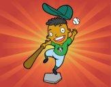 Desenho Um rebatedor de beisebol pintado por ImShampoo