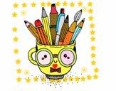 Desenho Copo animado com lápis pintado por Gerli