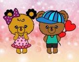 Desenho Kawaii ursos pintado por florbelinh