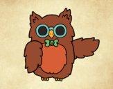 Desenho Professor coruja pintado por Duds