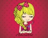 Rapariga adorável