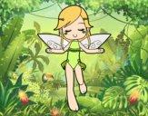 Desenho Fada a voar pintado por MiaPlay