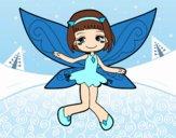 Desenho Fada voadora pintado por MiaPlay