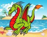 Desenho Dragão elegante pintado por ckirito