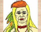 Desenho Índio pintado por ckirito