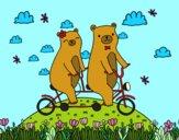 Desenho Ursos do amor pintado por luzinda