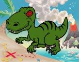 Desenho Dinossauro velociraptor pintado por Davi1203