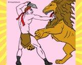 Gladiador contra leão