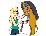 Desenho Cavalo vencedor pintado por Jujuli