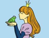 Desenho A princesa e da rã pintado por Clarice1