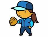 Desenho Jogadora de basebol pintado por Jujuli