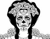 Mulher caveira mexicana