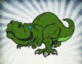Desenho Tyrannosaurus Rex pintado por iFoxin