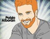 Desenho Pablo Alboran  primeiro plano pintado por AndressaBR