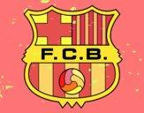 Desenho Emblema do F.C. Barcelona pintado por TONINH