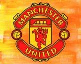 Desenho Emblema do Manchester United pintado por Isadoran