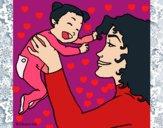 Desenho Mãe e filho  pintado por yasminloi2