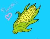 Desenho Um sabugo de milho pintado por AndressaBR