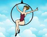 Desenho Mulher trapezista pintado por DudaReis