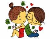 Dois jovens amantes