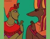 Desenho Ramses e Anubis pintado por ceciliaz