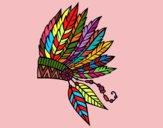 Coroa de penas indiana