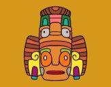 Desenho Máscara mexicana dos rituais  pintado por VanVieira