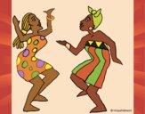 Desenho Mulheres a dançar pintado por Craudia