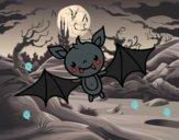 Desenho Um morcego do Halloween pintado por ceciliaz