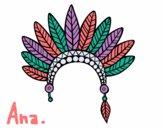 Cabeça coroa de penas indiana