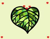 Desenho Coração verde pintado por ceciliaz
