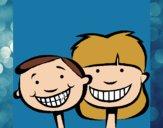 Desenho Crianças com dentes sãos pintado por Craudia