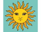Desenho Sol pintado por isalu