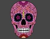 Desenho Caveira mexicana pintado por andressala