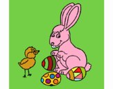 Pinto, coelhito e ovinhos