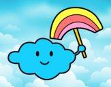 Nuvem com arco-íris