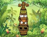 Desenho Um totem pintado por Craudia