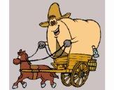 Desenho Carroça vaqueiro pintado por Craudia