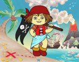 Desenho Menina do pirata pintado por luanah