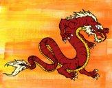 Desenho Dragão caminhada pintado por LadyMcm