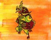 Desenho Dragão guardião pintado por LadyMcm