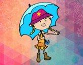 Menina com guarda-chuva