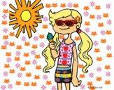 Desenho Verão 2 pintado por Jujuli