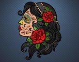 Desenho Tatuagem de Catrina pintado por ANALUMA