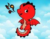 Desenho Um dragão bebê pintado por rian123