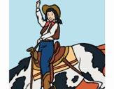 Desenho Vaqueira pintado por Craudia