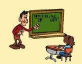 Desenho Professor de matemática pintado por Craudia