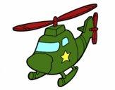 Helicoptero com uma estrela