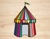 Desenho Tenda de circo pintado por vivihsanto
